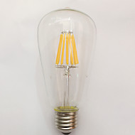 1 Stück kwb E26/E27 9W / 10W 10 COB 850 lm Warmes Weiß ST64 edison Vintage LED Glühlampen AC 220-240 V