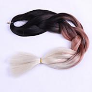 Beige box Vlechten Jumbo Hair Extensions 24inch Kanekalon 3 Strand 80-100g/pcs gram haar Vlechten