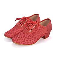 Chaussures de danse(Noir Bleu Rouge Argent) -Personnalisables-Talon Bottier-Paillette Brillante Synthétique-Latine