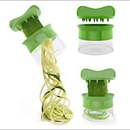 Vihreä spiraali porkkana kurkku viipaloi spagetti salaatti valmistaja hedelmä leikkuri juusto keittiö