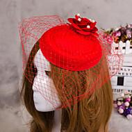 fleur de plumes bijoux de cheveux voile fascinateur chapeau pour la fête de mariage