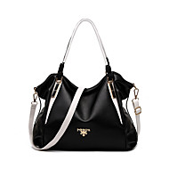 Women PU Casual / Event/Party Tote White / Black