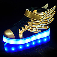 LED Shoes Boys' Shoes Athletic / Casual Synthetic Fashion Sneakers Black and Gold