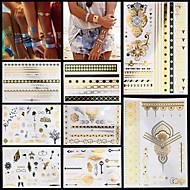Séries de totem Or Papier approvisionnement de tatouage article complet Pochoir Tatouage
