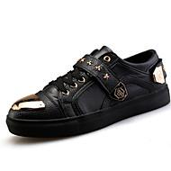 menns sko fritid mote joggesko svart / rød / hvit