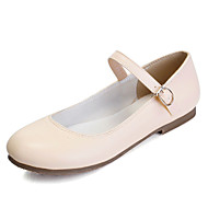 Women's Shoes Flat Heel Mary Jane / Round Toe Flats Outdoor / Dress / Casual Black / Pink / White / Almond