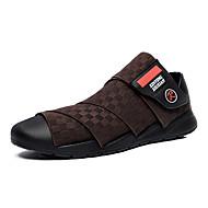 Men's Spring / Summer / Fall / Winter Comfort Fabric Casual Flat Heel Slip-on Black / Brown / Yellow Walking