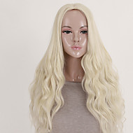 Women's Fashionable Blonde Color Long Length Top Quality Synthetic Wigs