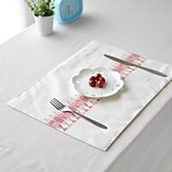 """4pcs napperons pack de poissons japonais motif de toile à motif de coton de mode lavable 11.8 """"de 12,6"""""""
