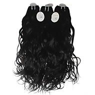 "Wholesale price Unprocessed Brazilian Virgin Human Hair Extension 1B Natural Wave Human Hair Weave 300g/lot 12""-30"""