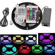 z®zdm 5m 300x5050 SMD rgb tira luz controlador remoto 24key (AC110-240V)