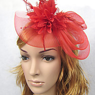 Women's Feather Net Headpiece-Wedding Fascinators Headpiece Hari Jewelry 1 Piece