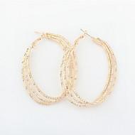 Retro Statement Big U-shaped Ear Buckle Oval Hoop Earrings for Women Dress