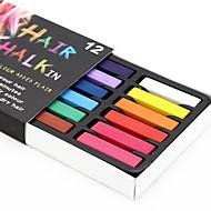 midlertidige 24 farve kridt farveblyanter til hår ugiftige hårfarvningsmidler pasteller stick diy styling værktøjer