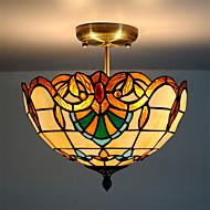 12inch Retro Tiffany Ceiling Lamp Glass Shade Flush Mount Living Room Dining Room light Fixture