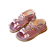 Girls' Shoes Dress / Casual Comfort Leatherette Sandals Pink / Silver / Gold