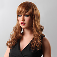 Stylish Long Shaggy Wavy Human Virgin Remy Hand Tied-Top Capless Woman's Hair Wig