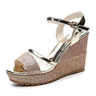 Women's Shoes Glitter Platform Peep Toe/Creepers Sandals Office & Career/ Party & Evening/Dress/Casual Black/Gold