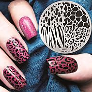 2016 Latest Version Fashion Pattern Leopard Print Nail Art Stamping Image Template Plates