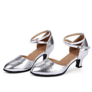 Non Customizable Women's Dance Shoes Modern Leather Cuban Heel More Colors