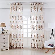 Dvije zavjese Prozor Liječenje Zemlja Living Room Rayon Materijal Sheer Zavjese Shades Početna Dekoracija For Prozor