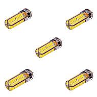 ywxlight® 5 pcs g4 10w 72 SMD 5730 800-1000 lm branco quente / frio t decorativo branco levaram luzes de pinos bi AC / DC 12-24V