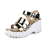 Women's Shoes Leatherette Platform Wedges / Platform / Slingback / Ankle Strap / Open Toe Sandals Outdoor /