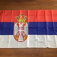 Republikken Serbia flagg, SRB banner, serbian flagg