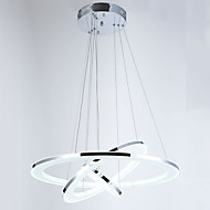 Ceiling Pendant Lights LED Acrylic Lighting Fixtures with Three Rings 406080CM 68W CE FCC ROHS