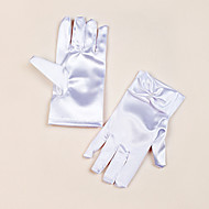 Wrist Length Fingertips Glove Satin Flower Girl Gloves Spring / Summer / Fall / Winter Bow