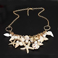 Women's Statement Necklaces Pearl Shell Alloy Fashion Golden Jewelry Party Daily 1pc