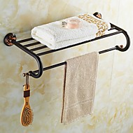 ORB and Rose Gold-Plated finishing Brass Material Bathroom Shelf