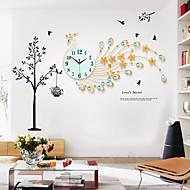 Novinka / Ostatní Módní a moderní Nástěnné hodiny,Květiny / Zvířata / Malebný / Svatba / Rodina Skleněný / Kov 82cm x 48cm( 32in x 19in )