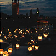 Water Floating Candle Lantern Biodegradable (10*10cm)
