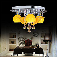 Study lamp Circular Room Lamp Ceiling lamp Room Crystal lamp