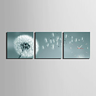 E-HOME® Dandelion Flying In The Wind Clock in Canvas 3pcs