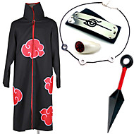 Inspired by Naruto Itachi Uchiha Anime Cosplay Costumes Cosplay Suits Cosplay Accessories PrintNecklace Cloak More Accessories Weapon