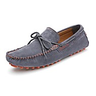 Men's Boat Shoes Spring Summer Fall Moccasin Suede Outdoor Office & Career Dress Casual Yellow Gray Dark Blue
