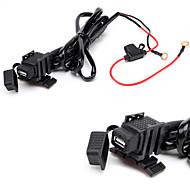 jtron 방수 자동차의 USB 전화 / 네비게이션 자동차 충전기 - 검정