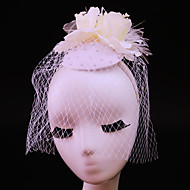 Women's Feather / Rhinestone / Net Headpiece-Wedding / Special Occasion / Casual / Outdoor Fascinators 1 Piece