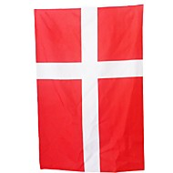 neue 3ft x 5ft hängende Fahne Polyester Dänemark Nationalflagge Banner home decor