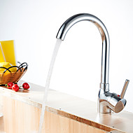 Widespread Single Handle One Hole with Nickel Polished Kitchen faucet