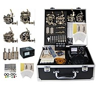 Basekey Tattoo Kit 4 s JHK0174  Machine With Power Supply Grips Cleaning Brush Ink Needles