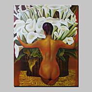 Peint à la main Abstrait / Personnage / Nu / Portraits AbstraitsModern Un Panneau Toile Peinture à l'huile Hang-peint For Décoration