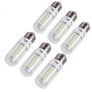 <YouOKLight® 6PCS E14 / E27 4W 280lm CRI> 80 3000K / 6000K 69 * SMD5730 LED Light Corn Bulb (110-120V / 220-240V)