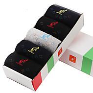 L'ALPINA® Men's Solid Color Medium 5/box Socks-31178