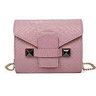 Τσάντα ώμου / Τσάντα tote-Γυναικείο-PU-Baguette-Ροζ / Γκρι / Μαύρο