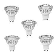 9W GU10 Lâmpadas de Foco de LED MR16 1 COB 810 lm Branco Quente AC 85-265 V 5 pçs