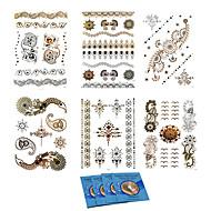 14Pcs/Lot =6pcs temporary tattoos +8pcs cleansing wipes-Autres-Multicolore-Motif-20.5*14.5CM- enPapier-Tatouages Autocollants-king horse-