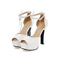 Women's Shoes Glitter / Leatherette Chunky Heel Heels / Peep Toe / Platform Sandals Office & Career / Party & Evening